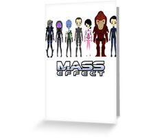 Mass Effect Cartoon - JohnShepard Greeting Card