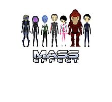 Mass Effect Cartoon - JohnShepard Photographic Print