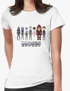 Mass Effect Cartoon - JohnShepard Womens Fitted T-Shirt