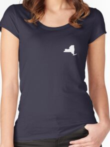 New York Over Heart Women's Fitted Scoop T-Shirt