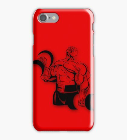 Reg power red iPhone Case/Skin