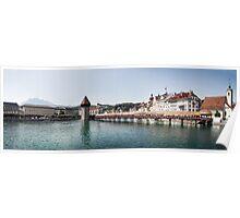 Chapel Bridge in Lucerne (Luzern), Switzerland Poster