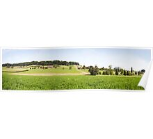 Green Swiss Farmland Poster