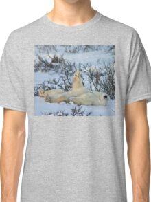 Yoga Bear plank arm up Classic T-Shirt