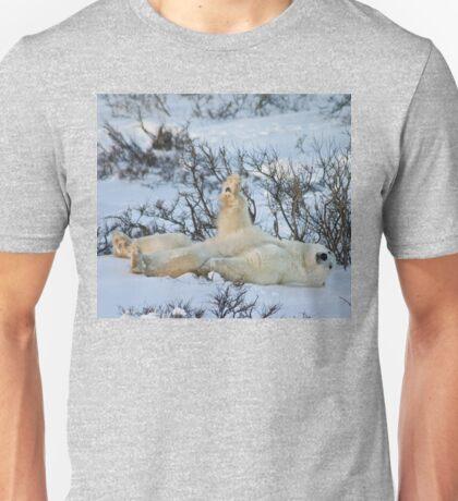 Yoga Bear plank arm up Unisex T-Shirt