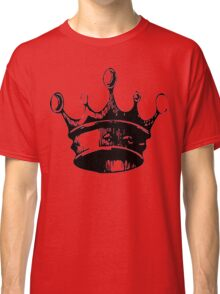 Black and White Crown Classic T-Shirt