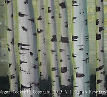 Surreal Birch Tree Grove by Megan Cockrell