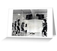 Reflection of Aerobics Class In The Mirror Greeting Card