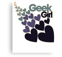 Geek girl Canvas Print