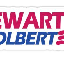 STEWART COLBERT 12 jon stephen president funny 2012 Sticker