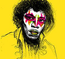 JIMI HENDRIX x GENE SIMMONS by bbbboom