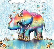 Little Rainbow Elephant by © Karin (Cassidy) Taylor
