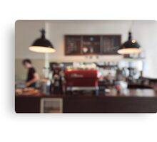 Coffee Shop Bokeh Canvas Print