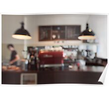 Coffee Shop Bokeh Poster
