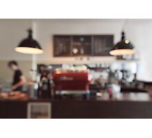 Coffee Shop Bokeh Photographic Print