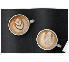 Two Cups of Coffee Poster
