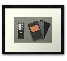 Old-fashioned Notebooks & Drawing Utensils Framed Print