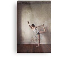 Yoga: Woman Performing Natarajasana Metal Print
