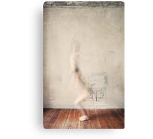 A Naked Woman Jumping Canvas Print