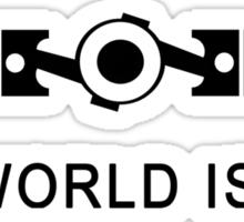 The world is flat Funny Geek Geeks Nerd Sticker
