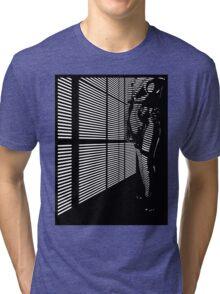 """Sky"" Skyscraper Blinded Noir Tri-blend T-Shirt"
