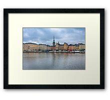 Gloomy Sky Over Stockholm Framed Print