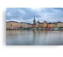 Gloomy Sky Over Stockholm Canvas Print