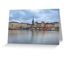 Gloomy Sky Over Stockholm Greeting Card