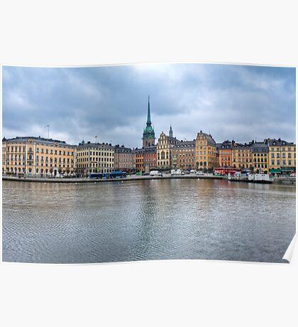 Gloomy Sky Over Stockholm Poster