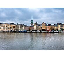 Gloomy Sky Over Stockholm Photographic Print