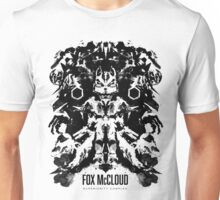 Fox McCloud Star Fox Inspired Geek Psychological Inkblot Unisex T-Shirt