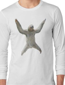 Sloth Hangs Around Your Neck :3 Long Sleeve T-Shirt