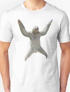 Sloth Hangs Around Your Neck :3 Unisex T-Shirt