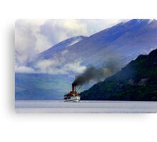 Steamship on the Lake Canvas Print