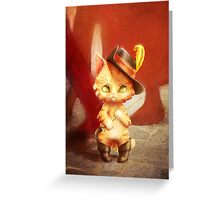 Kitten in Boots Greeting Card