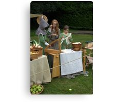 Medieval Stall Holders Canvas Print