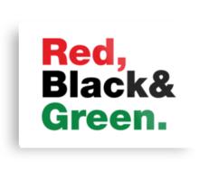 Red, Black & Green. Metal Print