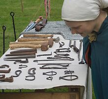 Medieval Stall Holder by Colin Bentham