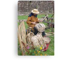 Medieval Basket Weaver Canvas Print