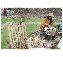Medieval Basker Weaver Poster