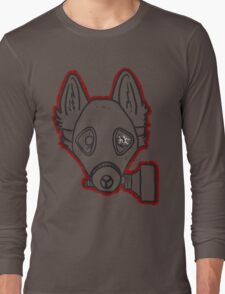 Gas Mask Wolf Broken Long Sleeve T-Shirt