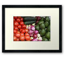 Vegetables at the Otavalo Market Framed Print