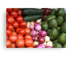 Vegetables at the Otavalo Market Canvas Print
