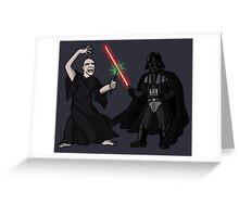 Darth Vader vs Lord Voldemort Greeting Card