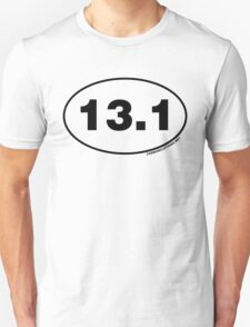 13.1 Miles Oval Sticker T-Shirt