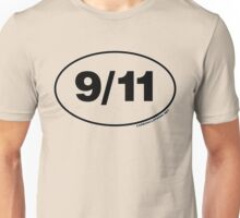 9/11 Oval Stickers Unisex T-Shirt
