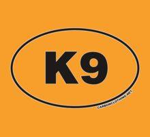 K9 Oval Sticker T-Shirt