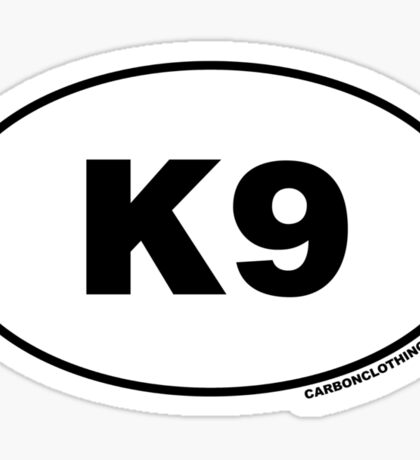 K9 Oval Sticker Sticker