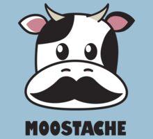 Moostache (white) Kids Clothes