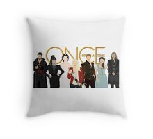 Once Upon A Time Main Cast Throw Pillow
